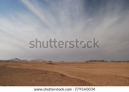 Clouds over sahara desert