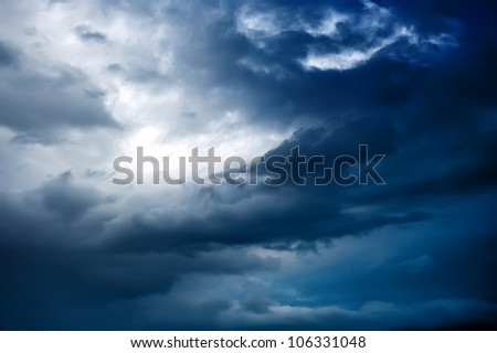 Clouds sky before a thunderstorm - stock photo