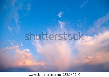 clouds, sunny day, blue sky, white clouds, sun, white clouds in the blue sky