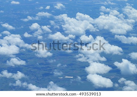 Clouds taken from an airplane