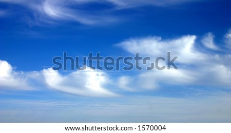 Clouds , Turkey. - stock photo