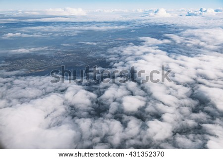 Clouds view from airplane.
