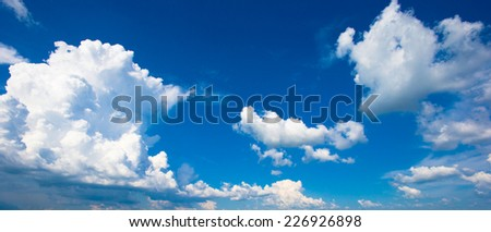 Clouds with blue sky - stock photo