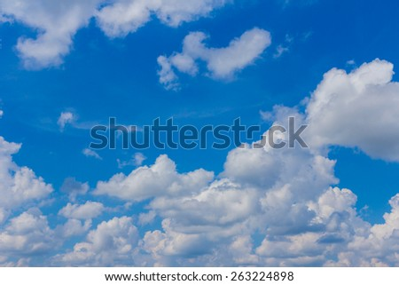 Clouds with blue sky background - stock photo