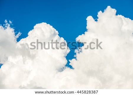 Clouds with blue sky use for background