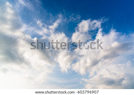 Clouds with sky before sunset