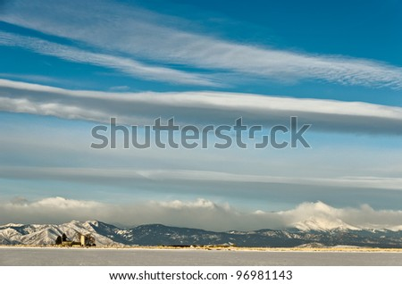 Cloudscape Above The Colorado Foothills and Longs Peak