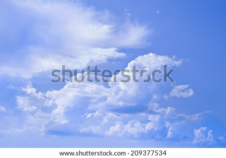 Cloudscape at hot day time before thunderstorm. - stock photo
