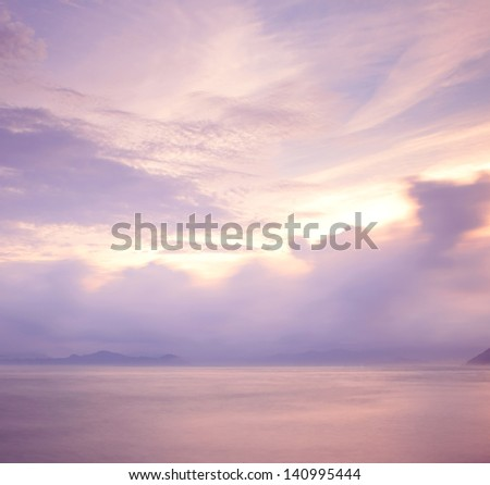 Cloudscape at morning - stock photo