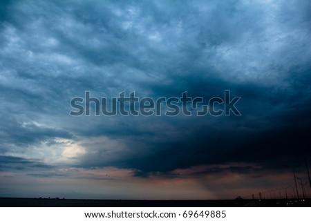 Cloudscape Twilight Heaven - stock photo