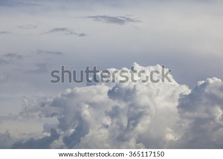 Cloudscape with copyspace - stock photo