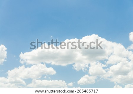 Cloudy and nice blue sky on sunlight
