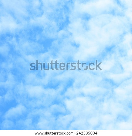 Cloudy background, faded clouds - stock photo