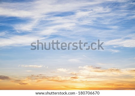 Cloudy blue sky abstract background - stock photo