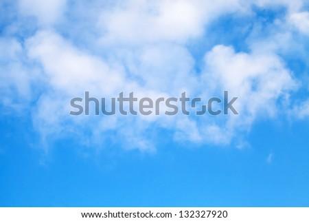 Cloudy blue sky background texture - stock photo