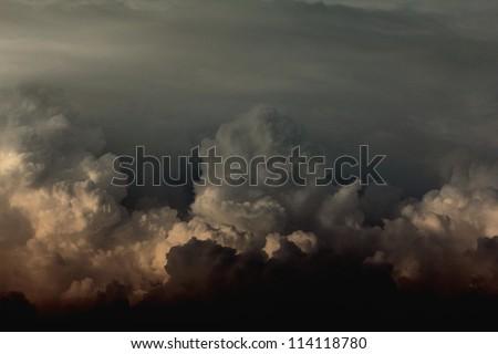 cloudy dark sky - stock photo