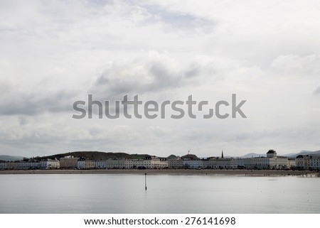 Cloudy day in Llandudno North Wales - stock photo
