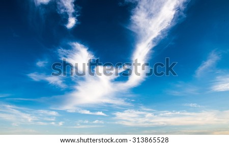 cloudy landscape - cloudy sky - stock photo