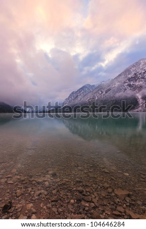 Cloudy Morning at Plansee, Tirol, Austria