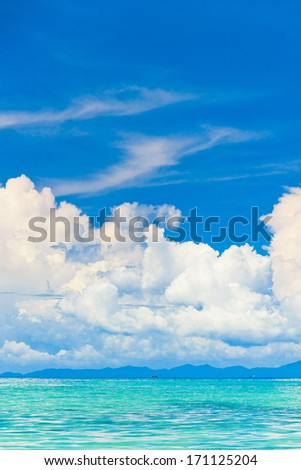 Cloudy Outdoor Cloudscape Divine  - stock photo
