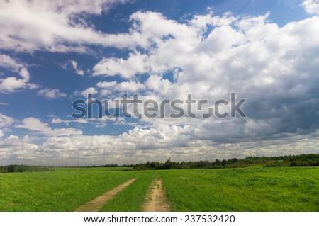 Cloudy Outdoor Summer Sun  - stock photo