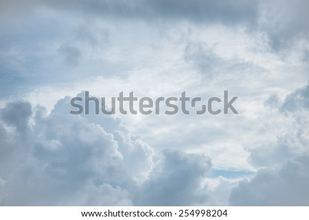 Cloudy sky background - stock photo