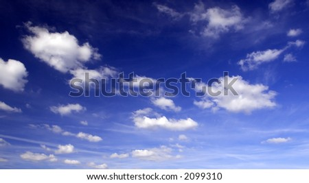 Cloudy sky (Background, wallpaper) - stock photo