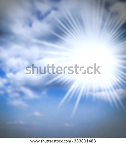 cloudy sky background weather - stock photo