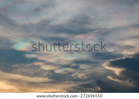 cloudy sky before storm coming with sunlight - stock photo