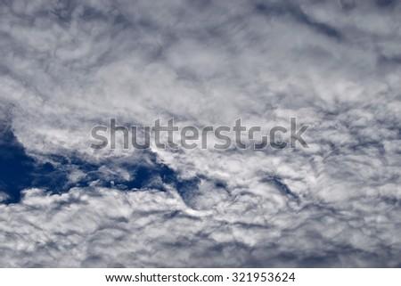 Cloudy sky. Cirrus - stock photo