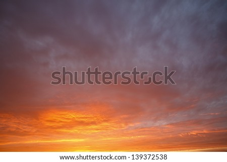 Cloudy sky in the early morning - stock photo