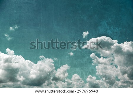 Cloudy sky, textured background - stock photo