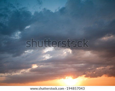 cloudy sunset