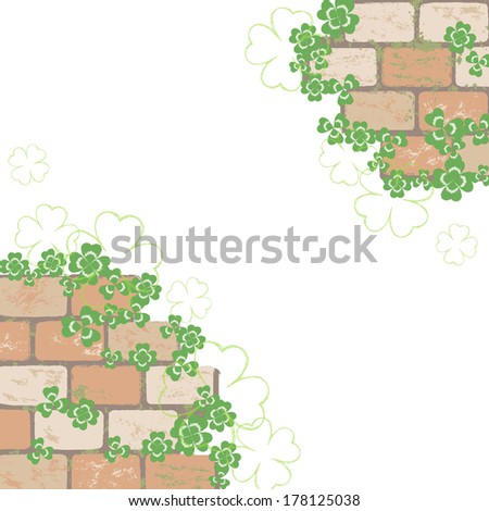 Clover and brick