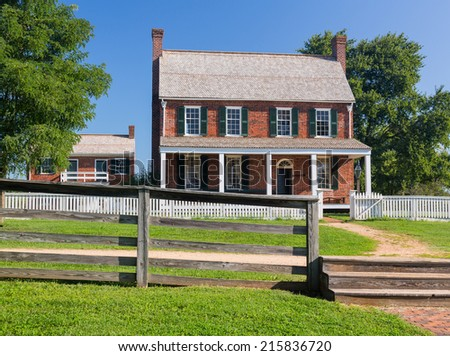 Clover Hill Tavern. Site of the surrender of Southern Army under General Robert E Lee to Ulysses S Grant in Appomattox, Virginia, USA - stock photo