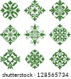 circular, seamless Celtic knot tile pattern.