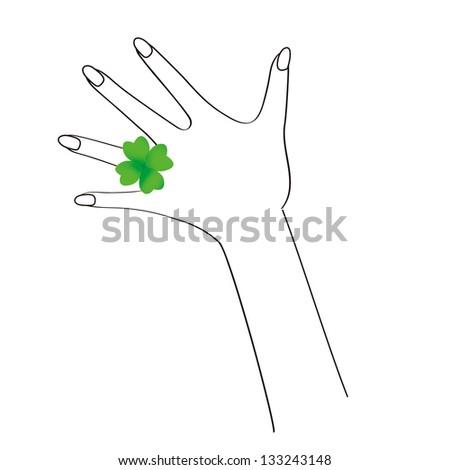 clover ring - stock photo