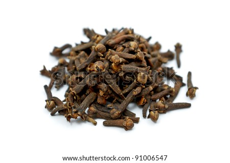 Cloves isolated on white - stock photo