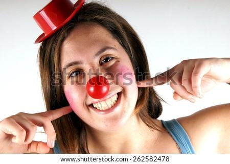 Clown girl - stock photo