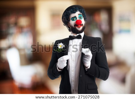 clown in a party - stock photo