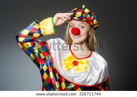 Clown in the funny concept