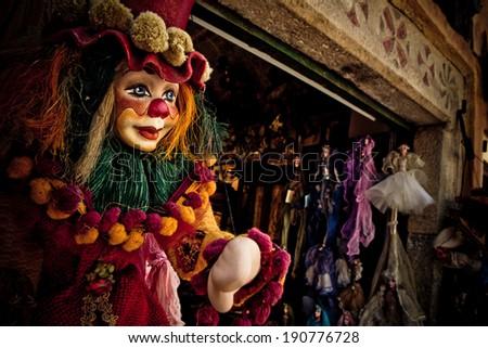 Clown Marionette - stock photo