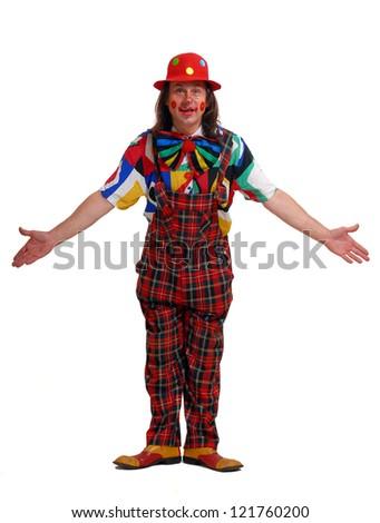 clown on a white background - stock photo