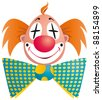 Clown portrait isolated on white background - raster version - stock vector