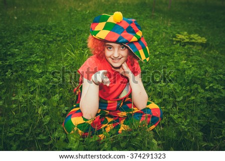 clown smiling