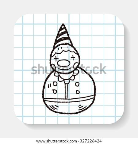 clown toy doodle - stock photo