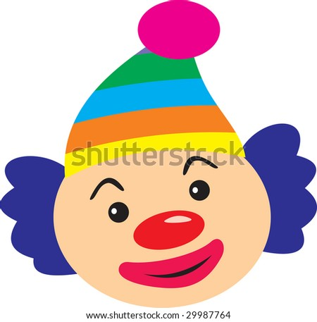 Clown, Vector version is in my portfolio - stock photo