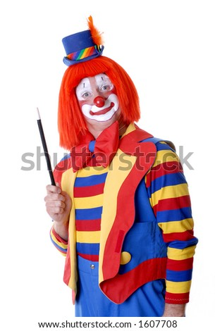 Clown with Magic Wand