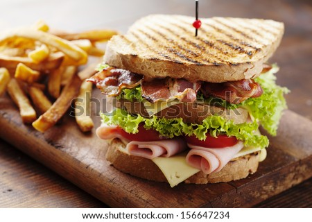 club sandwich - stock photo