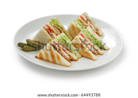 club sandwich , clubhouse Sandwich - stock photo